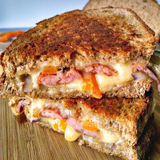 Kielbasa Grilled Cheese