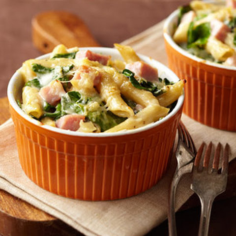 Ham and Spinach Two-Cheese Pasta
