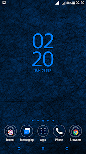 Spider Web Blue Theme Xperia - screenshot