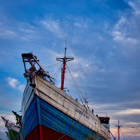 at docks by Arif Djohan - Transportation Boats