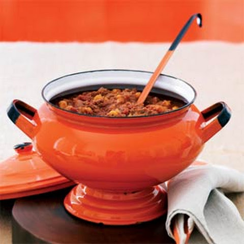 Devilish Chorizo Chili with Hominy
