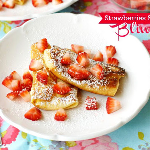 Strawberries & Cream Blintzes