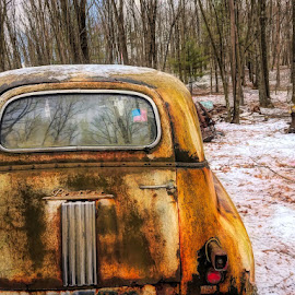 Junked by Sandy Considine - Transportation Automobiles ( rusted, junked car, antique car )