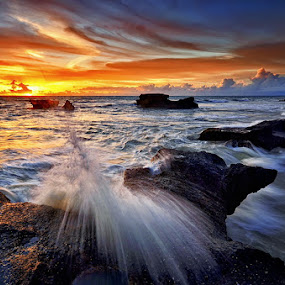 Melasti Rocks by Hendri Suhandi - Landscapes Beaches ( bali, edge, sunset, cliff, beach, rocks )
