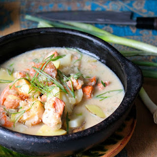Paleo Salmon and Scallop Chowder