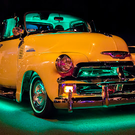On Euclid II by Mark Ritter - Transportation Automobiles ( automobile, chevy, classic, chevrolet, car, route 66, night, cruising )