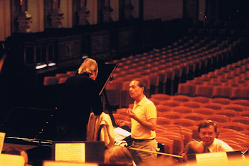 ​Rehearsing with Giulini and the Vienna Philharmonic, Muzikverein, 1993 (2)