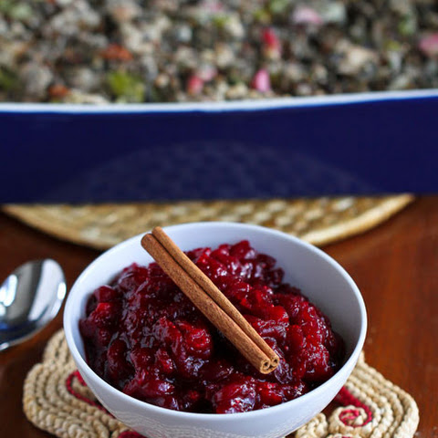Spiced Cranberry Sauce With Cinnamon And Nutmeg