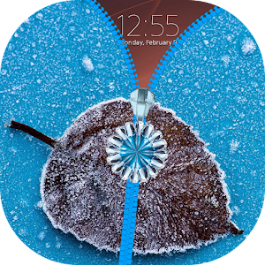 Frozen Zipper Lock Screen