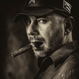 Authority by Petar Bonev - People Portraits of Men ( studio, monochrome, power, portrait, man, military,  )