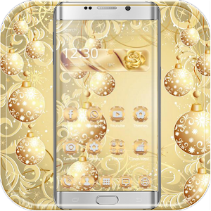 Download Gold Snow Ball Theme For PC Windows and Mac