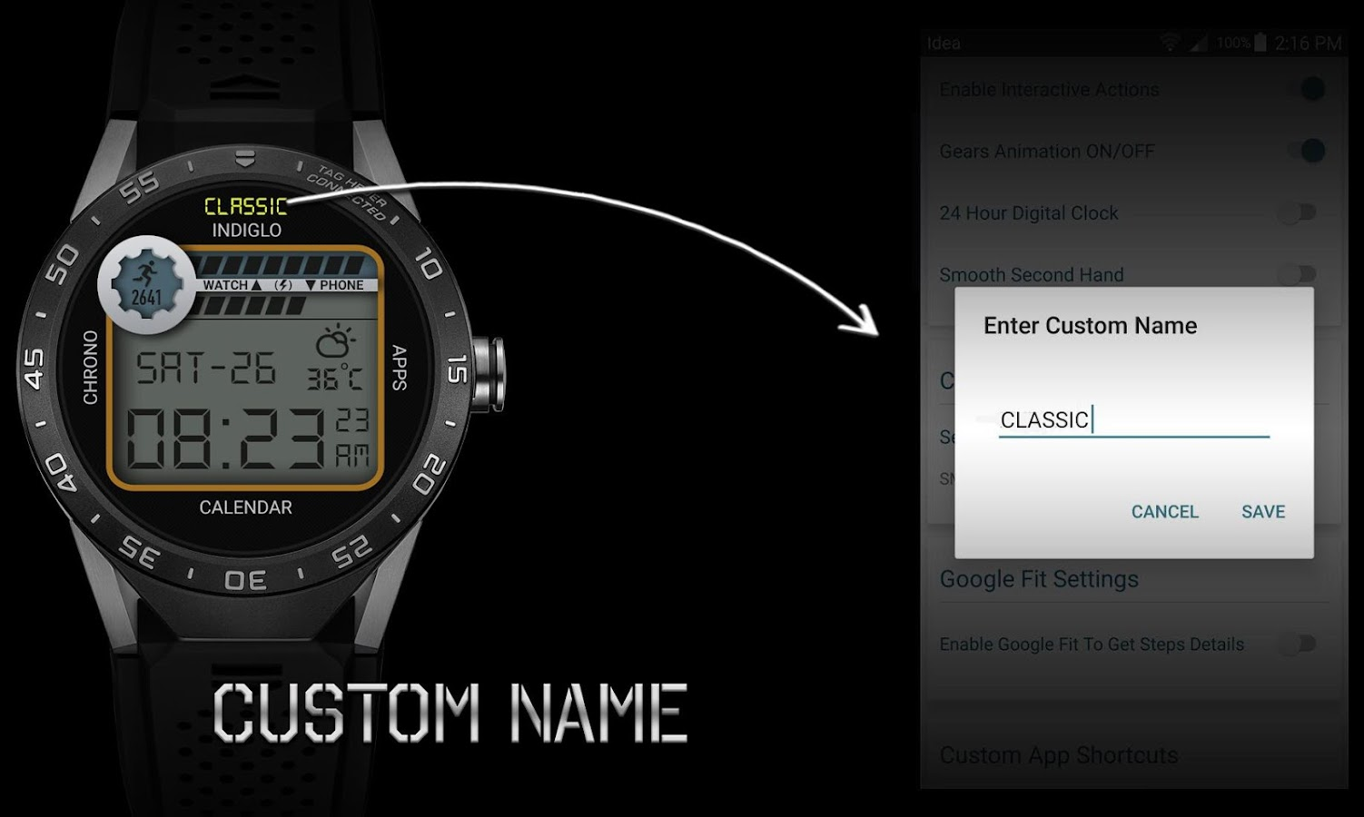 Retro Interactive Watch Face Screenshot 5