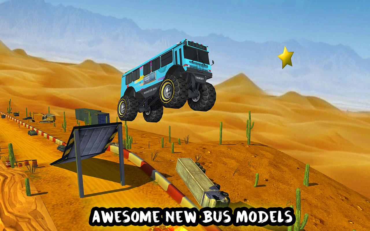 Crazy Monster Bus Stunt Race Screenshot 1