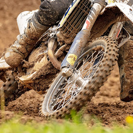 Muddy Run by Pat Eisenberger - Sports & Fitness Motorsports ( motorcycle, motor sports, sports, dirt bike, mx, mud )