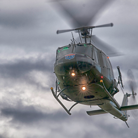 Bell UH-1 Iroquois by Tommy  Cochrane - Transportation Helicopters ( helicopter, bell, iroquois, huey, uh-1 )