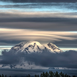 HDR of Mt Rainier by Will McNamee - Digital Art Places ( aundiram@msn.com, danielmcnamee@comcast.net, mcnamee2169@yahoo.com, ronmead179@comcast.net )