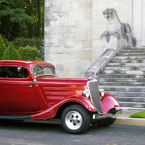 Old Ford With Model by Joe Fazio - Transportation Automobiles ( auto, car, 34 ford, model, transportation )