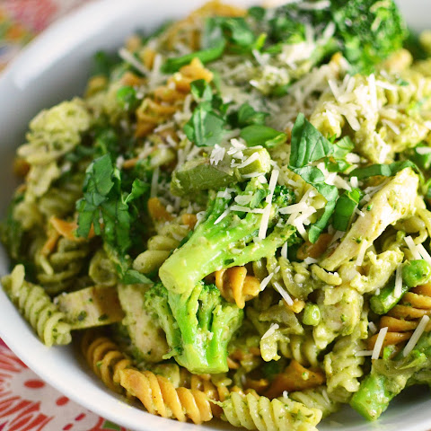 Chicken Green Veggie Pesto Pasta
