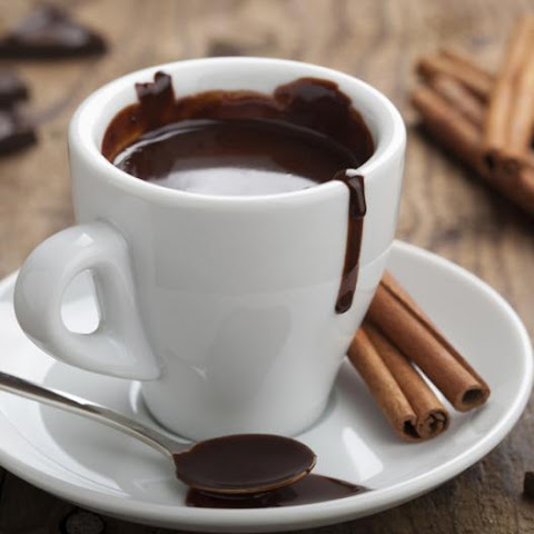 Hot Chocolate With Cognac And Cinnamon