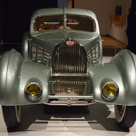 1935 Bugatti Aerolithe (Front) by Ada Irizarry-Montalvo - Transportation Automobiles