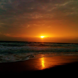 Sunset in Calangute beach Goa. by Sambit Bandyopadhyay - Instagram & Mobile Android ( goa, sunset, sea, india, beach )