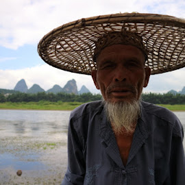 old fishermen by Zac Rushbrook - People Portraits of Men ( bamboo, yangshuo, china, portrate, river )