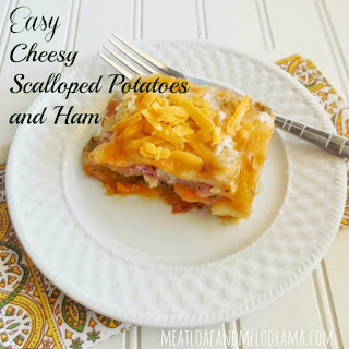 Easy Cheesy Scalloped Potatoes and Ham