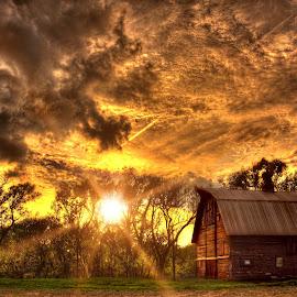End of Day by DE Grabenstein - Landscapes Sunsets & Sunrises