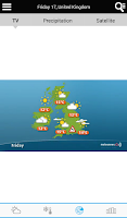 Screenshot of UK Weather forecast