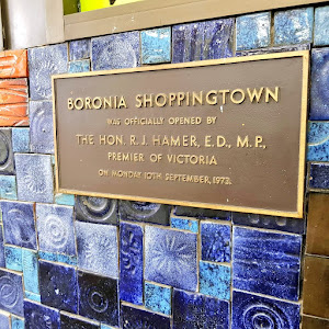 BORONIA SHOPPINGTOWN WAS OFFICIAL OPENED BY THE HON. R. J. HAMER, E.D., M.P., PREMIER OF VICTORIA ON MONDAY 10TH SEPTEMBER, 1973. Submitted by @oldshopsoz