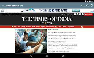 Screenshot of India Newspapers