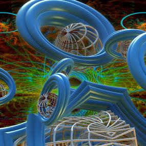 Naughty Fears  by Rick Eskridge - Illustration Sci Fi & Fantasy ( fantasy, jwildfire, mb3d, fractal, twisted brush )