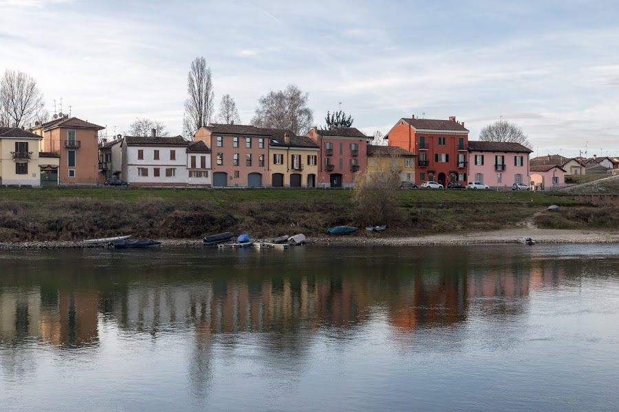 Borgo Ticino - Pavia by Pietro Ebner - City,  Street & Park  Historic Districts ( reflection, houses, ticino, borgo, pavia, river )