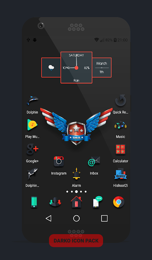 Darko - Icon Pack Screenshot 4
