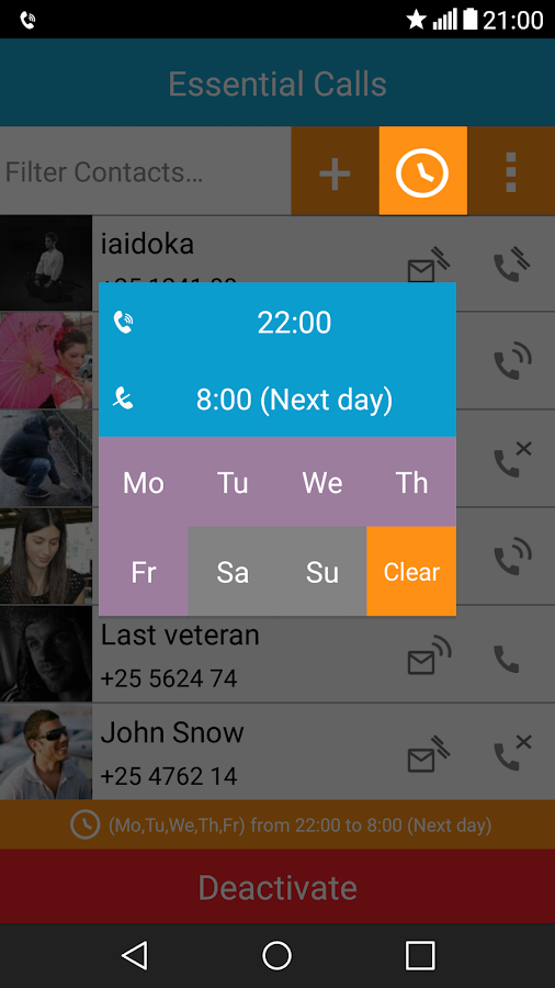 Essential Calls Lite Screenshot 3
