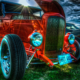 Orange Sunshine by Chris Cavallo - Transportation Automobiles ( car, orange, old car, maine, automobile, car show, hot rod, antique )