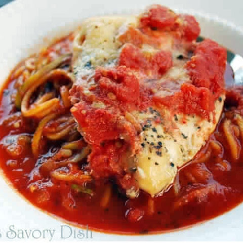 Simple Crockpot Italian Chicken