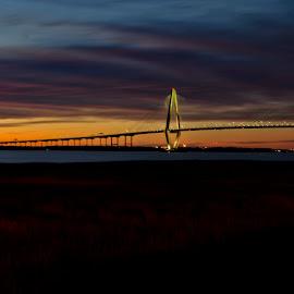 JRB 5361 by Ross Boyd - Landscapes Sunsets & Sunrises ( sunset, sc, beach, bridges )