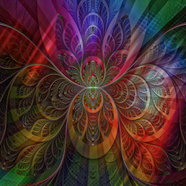 Twisted Vibrance by Bill Tiepelman - Digital Art Abstract ( abstract, twisted, color, colors, lines, vibrant,  )