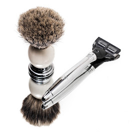 shave by Aaron Taylor - Artistic Objects Healthcare Objects ( mirror, product, razor, brush, shaving )
