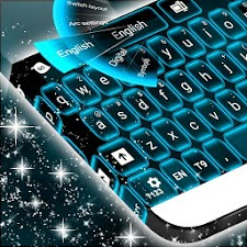 Neon Keyboard Blue Free