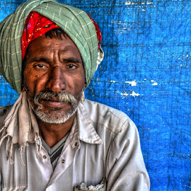 The lonely man by Rakesh Das - People Portraits of Men
