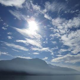 Lugano, Ticino, Switzerland by Serguei Ouklonski - Landscapes Cloud Formations ( sky, mountain peak, mountains, mountain, outdoors, cloud - sky, nature, range, water, lake, landscape, scenics )
