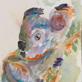 Koala by Jeanne Knoch - Painting All Painting