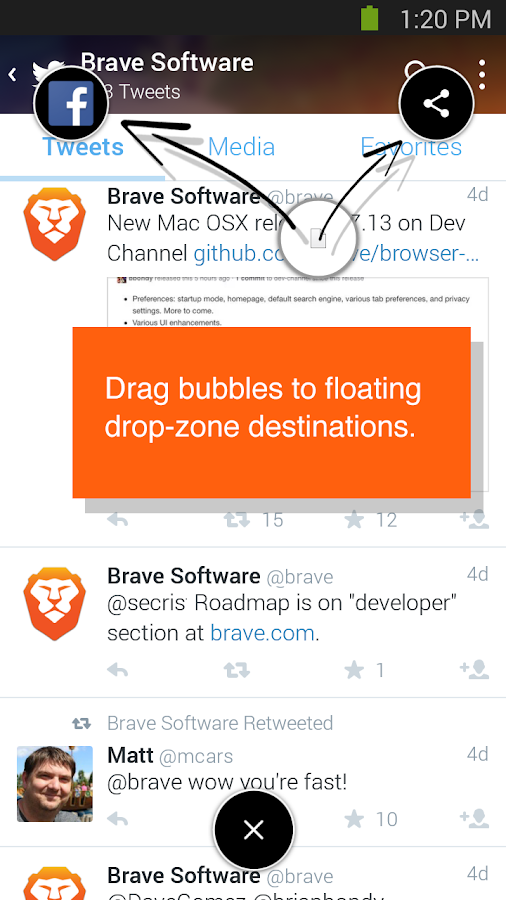 Brave Browser - Link Bubble Screenshot 2