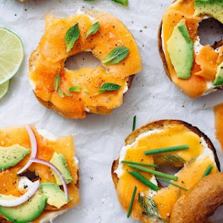 Papaya Lox with Lemon Cream Cheese