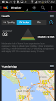 Screenshot of Weather Underground