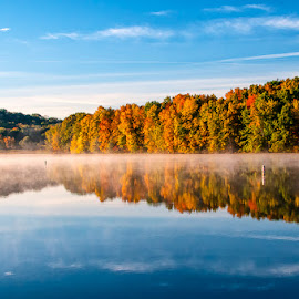 Fall 2016 by Lawrence Kelly - Landscapes Waterscapes ( fall leaves, fall colors, lake, pennsylvania, autumn colors )
