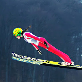 Flying by Ionut Stoica - Sports & Fitness Snow Sports ( action freeze, sport, ski jumping )