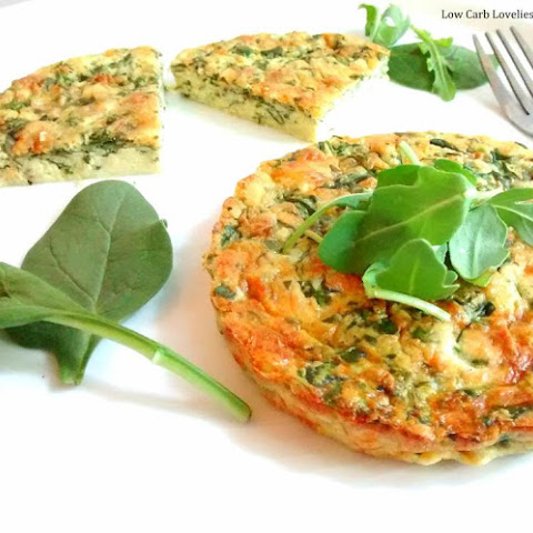 Crustless Cheese & Spinach Quiches